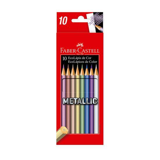 EcoLápis de cor Metallic 10 cores