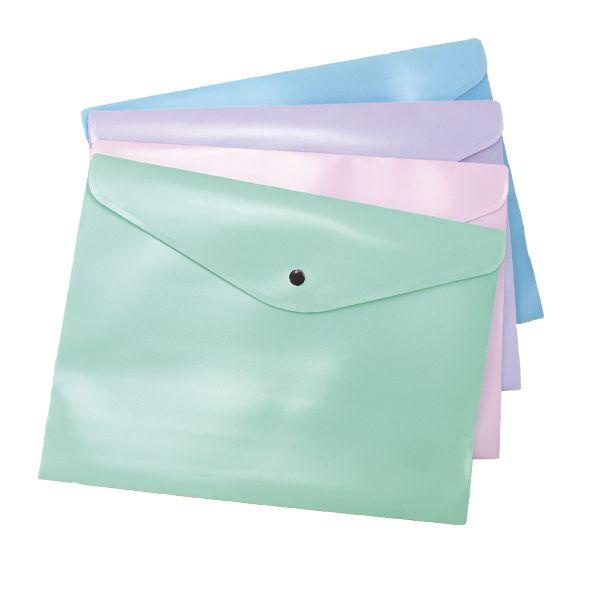 Envelope c/ Botão A4 Dello Linho Serena  - Papel Pautado
