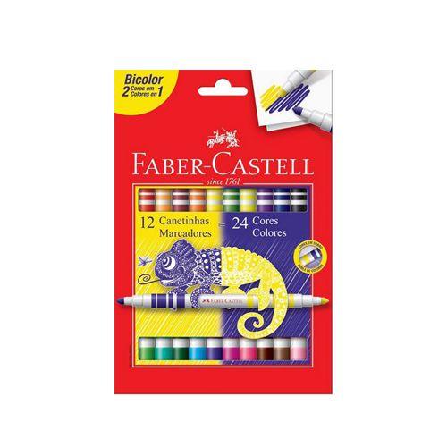 Estojo 12 Canetinhas Bicolor c/ 24 cores FC  - Papel Pautado