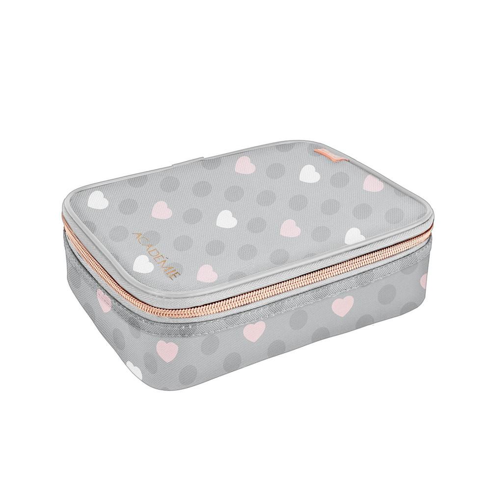 Estojo Box Tilibra Académie Coração   - Papel Pautado