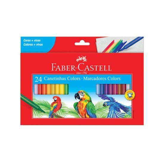 Estojo Canetinha Hidrocor Colors 24 cores  - Papel Pautado