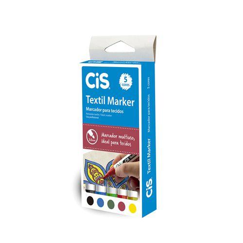 Estojo Cis Textil Marker para Tecidos c 5 cores