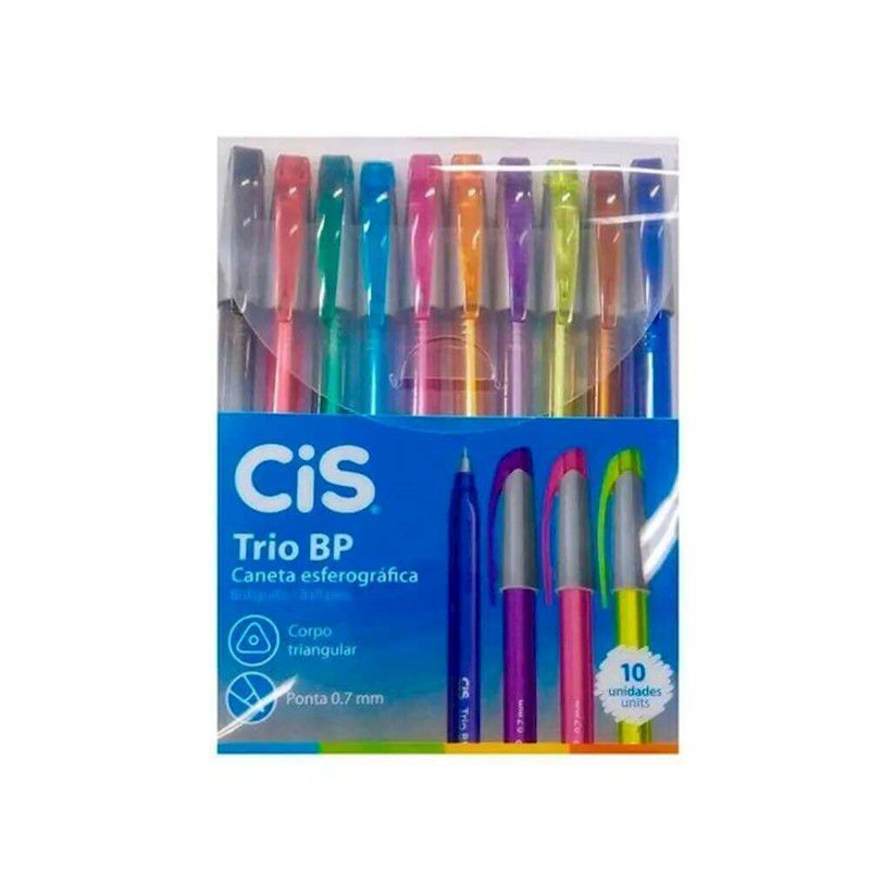 Estojo Cis Trio Bp 10 cores  - Papel Pautado