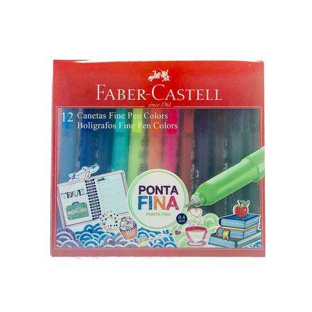 Estojo Fine Pen Colors - 12 cores  - Papel Pautado