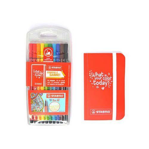 Estojo Stabilo Pen 68 - 10 cores
