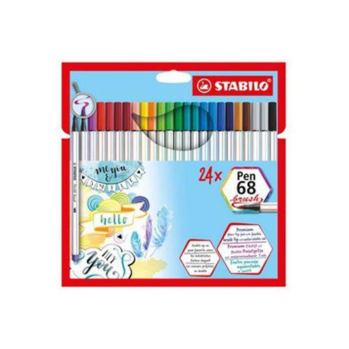 Estojo Stabilo Pen 68 Brush c 24 Cores