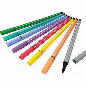 Estojo Stabilo Pen 68 Pastel -  8 Cores  - Papel Pautado