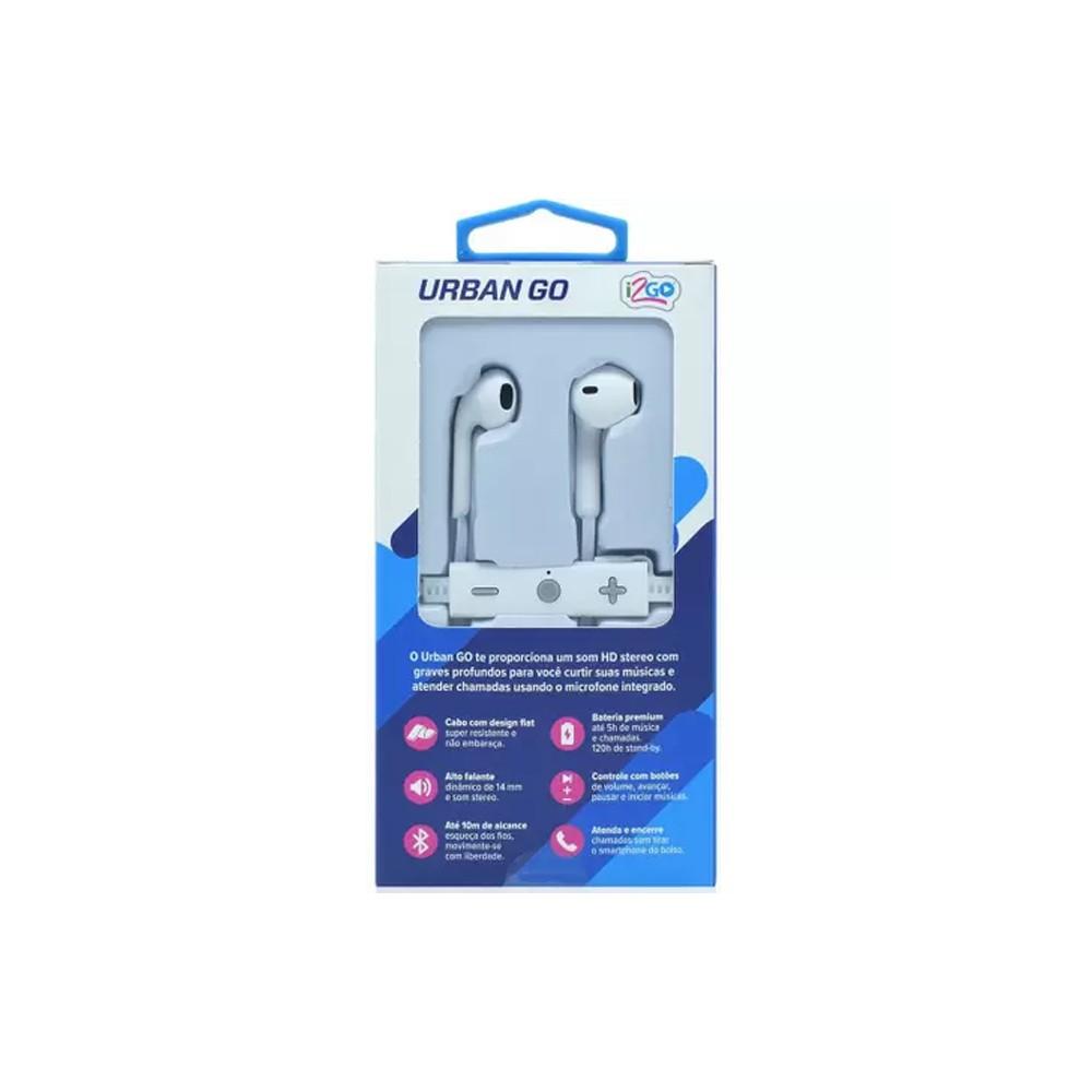 Fone Bluetooth Urban Go I2GO  - Papel Pautado