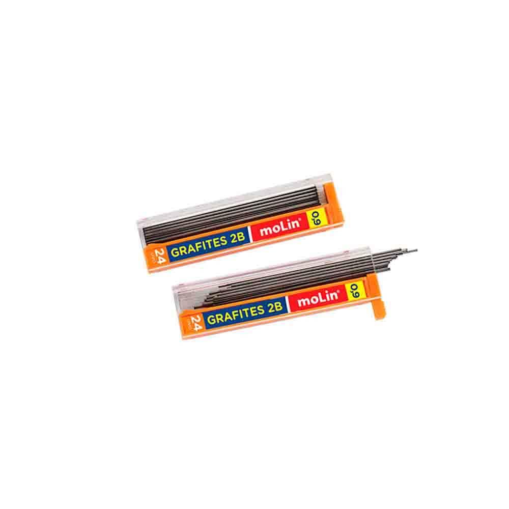 Grafite 2B Molin 0,9mm  - Papel Pautado