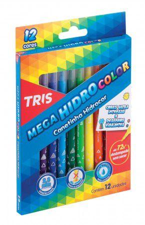Hidrocor Mega HidroColor 12 Cores Tris  - Papel Pautado