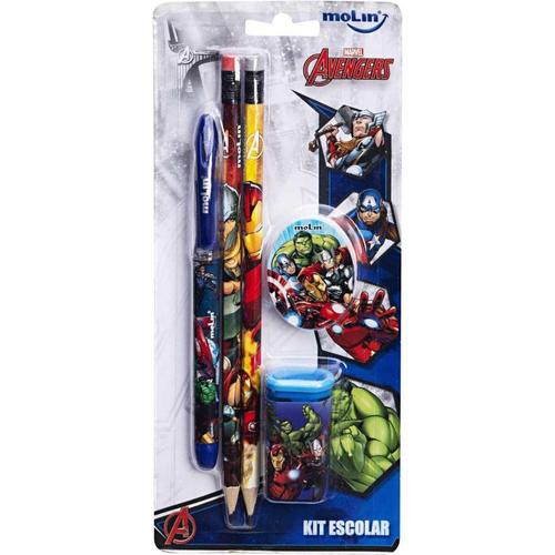 Kit Escolar Molin Avengers  - Papel Pautado