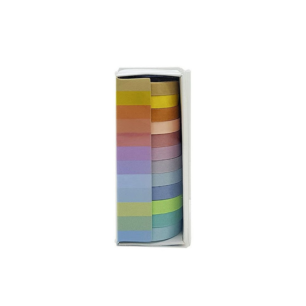 Kit Washi Tape c/ 12 Cores Pastel   - Papel Pautado
