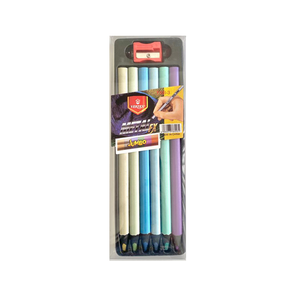 Lápis de Cor Jumbo Metalizado
