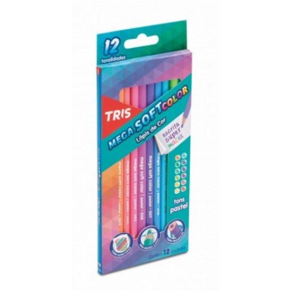 Lápis de Cor Mega Soft Color Pastel  - Papel Pautado