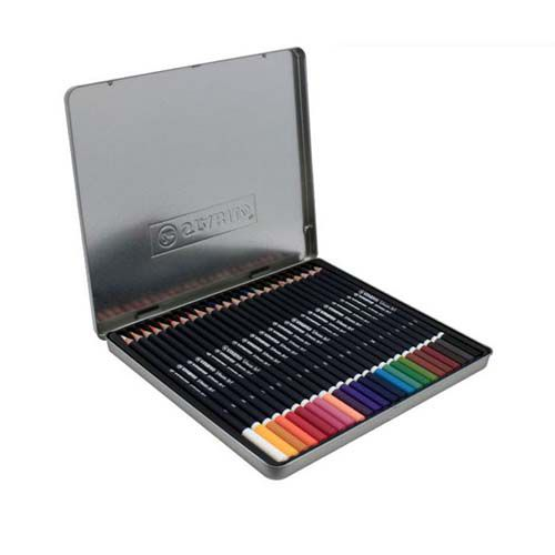 Lápis de Cor Uso Artístico e Profissional Stabilo 24 Cores  - Papel Pautado
