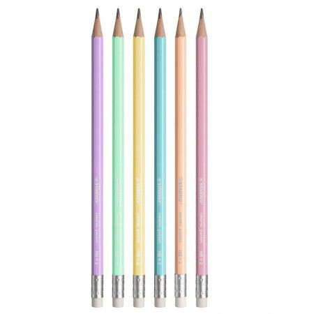 Lápis Preto com borracha Swano Pastel Stabilo