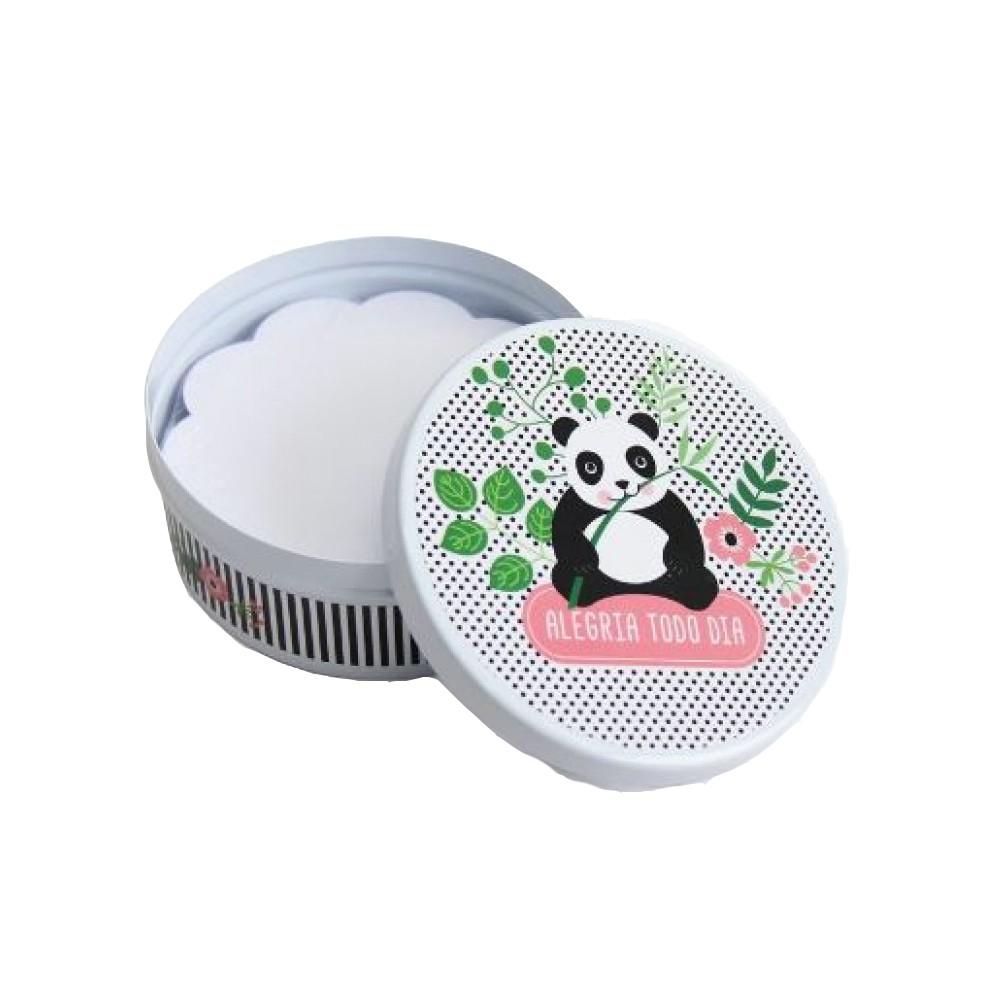 Lata Redonda Panda Fina Ideia  - Papel Pautado