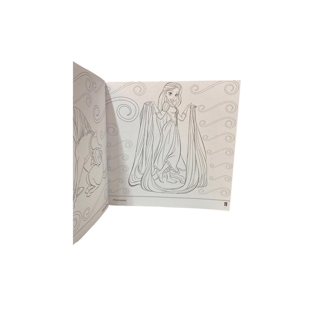 Livro Infantil p/ Colorir Arte e Cor Disney Culturama  - Papel Pautado