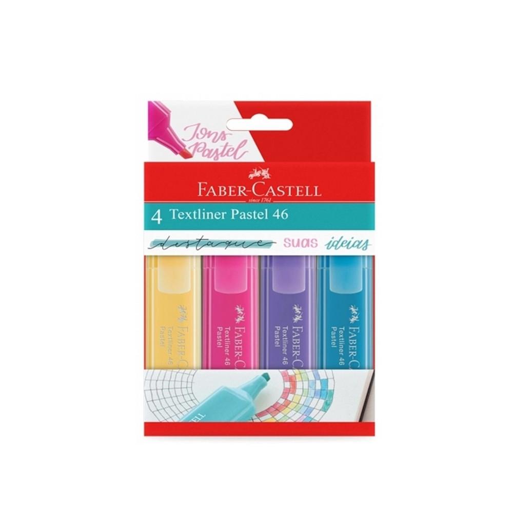 Marca Texto Textliner Pastel 46 FC c/ 4 Cores  - Papel Pautado