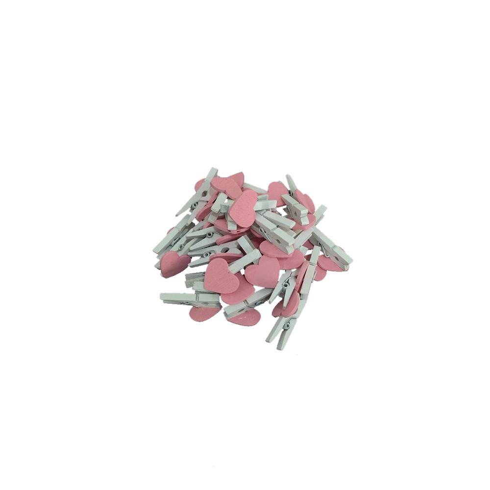 Mini Prendedor Decorativo Coração  - Papel Pautado