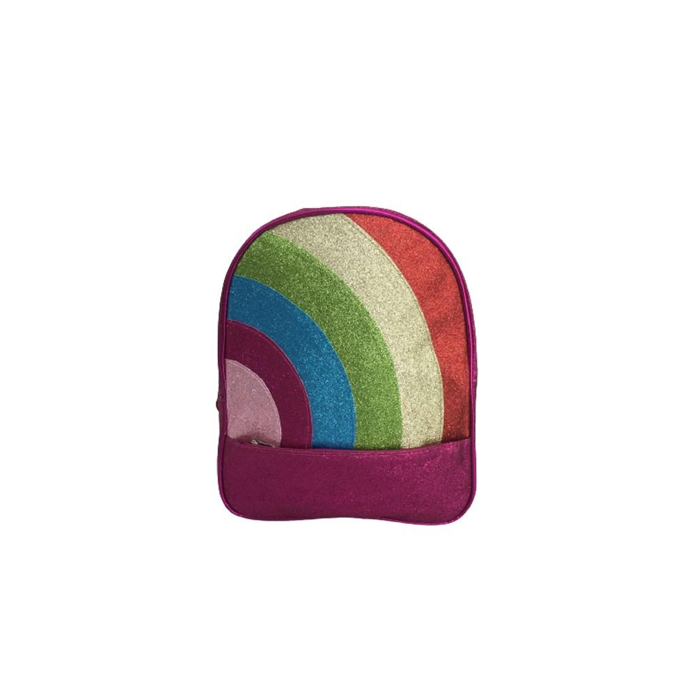 Mochila Arco-Íris Glitter   - Papel Pautado