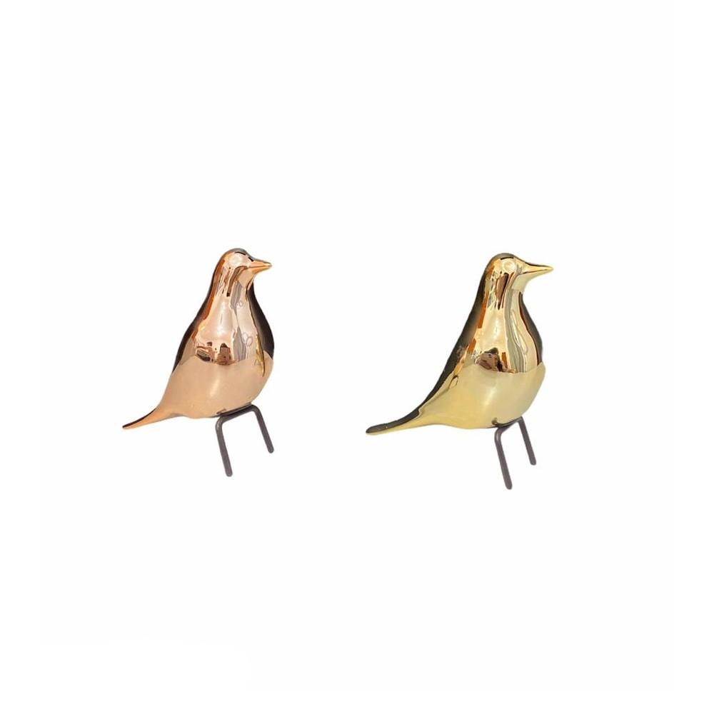 Pássaro de Cerâmica 9cm  - Papel Pautado