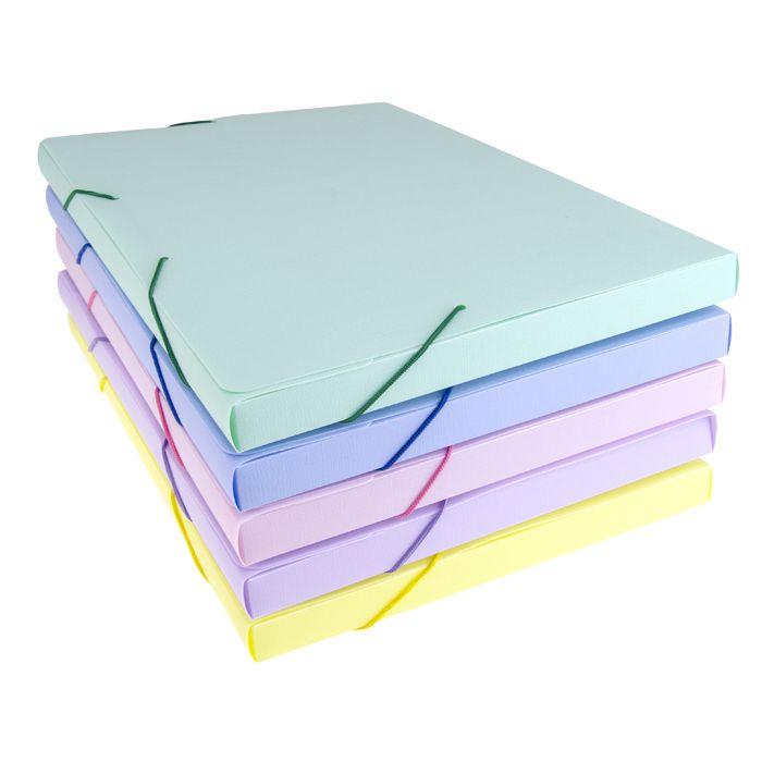 Pasta Aba Elástico A4 Dello 2 cm Linho Pastel  - Papel Pautado