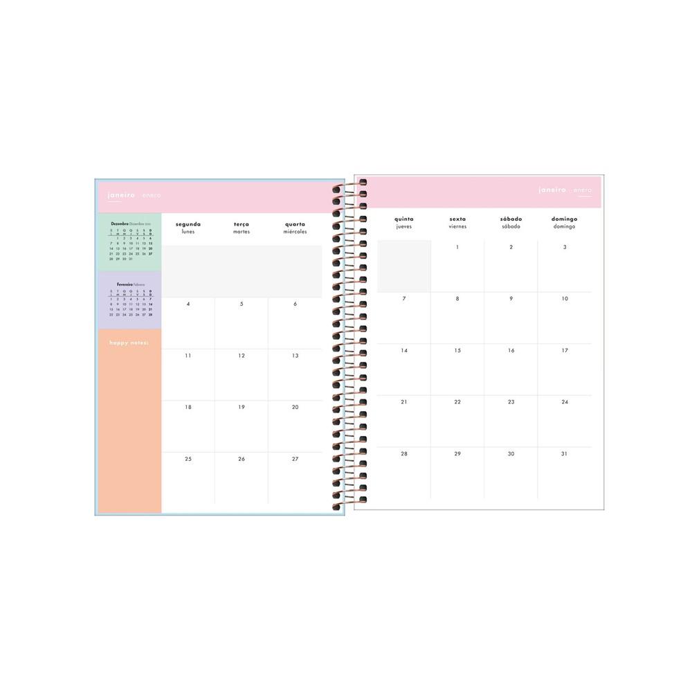 Planner Happy Tilibra 2021  - Papel Pautado