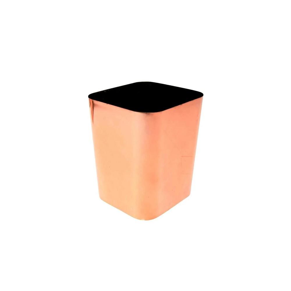 Porta Caneta Dello Metalizado Rosê  - Papel Pautado