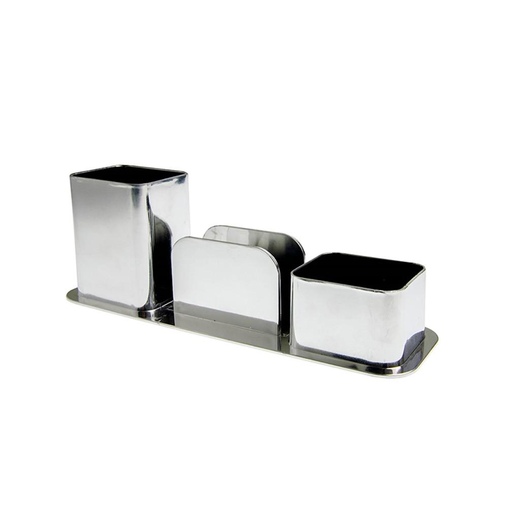 Porta Caneta Dello Triplo Metalizado  - Papel Pautado