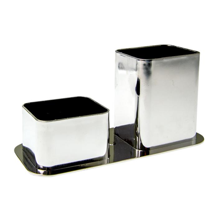 Porta Canetas Dello Duplo Metalizado  - Papel Pautado