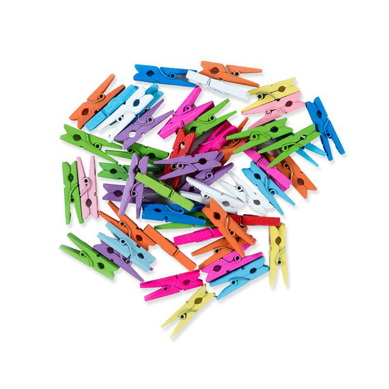 Pregador Mini Color c/ 6 Peças  - Papel Pautado