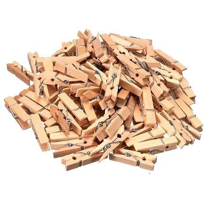 Pregador Mini Madeira c/ 20 peças  - Papel Pautado