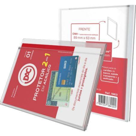Protetor 2 em 1 CNH/ Cartão  - Papel Pautado