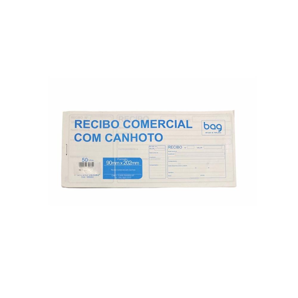 Recibo Comercial c/ Canhoto  Bag  - Papel Pautado