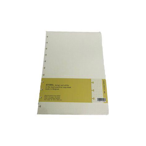 Refil A4 Pontilhado  - Papel Pautado