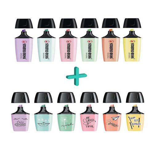 Stabilo Boss Pastel + Boss Mini Pastel / Economize R$ 12,00 Comprando o Kit.