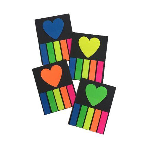 Sticky Notes 5 cores + coração