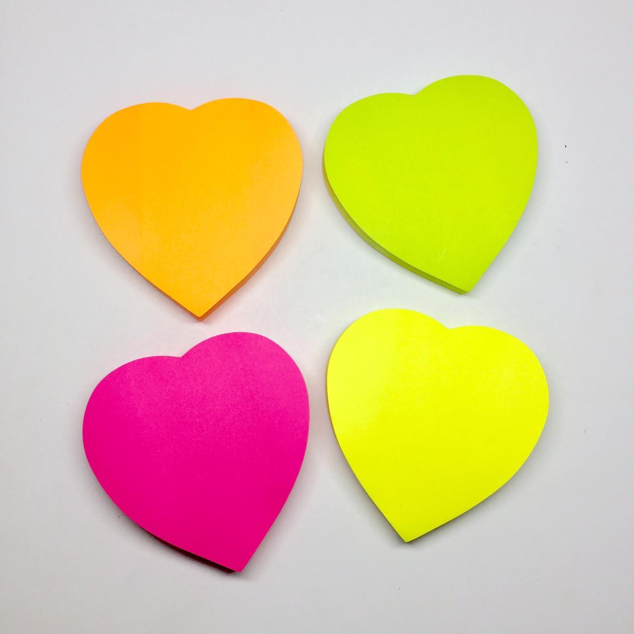 Sticky Notes Coração  - Papel Pautado