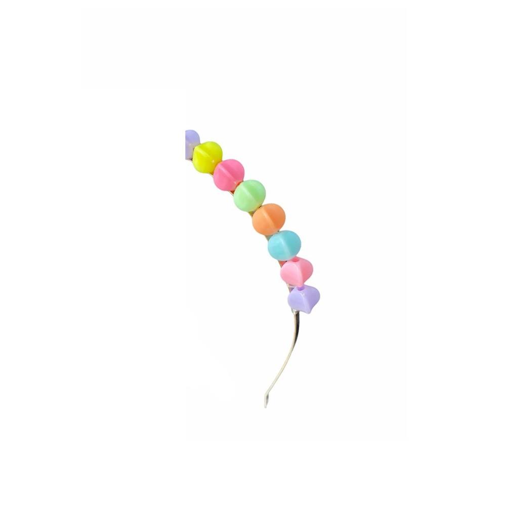 Tiara p/ Cabelo Colorida  - Papel Pautado