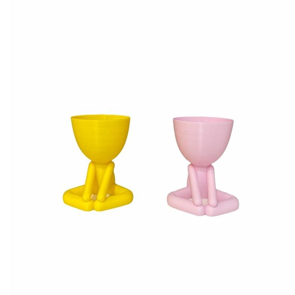 Vaso Mini Bob Sentado 3D  - Papel Pautado
