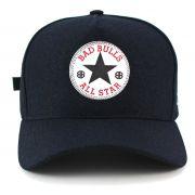 Boné Azul All Star Aba Curva Bad Bulls Unisex de Fita e Fivela