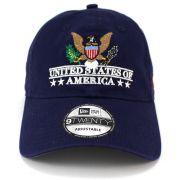 Boné New Era United States of America Azul Aba Curva Strapback