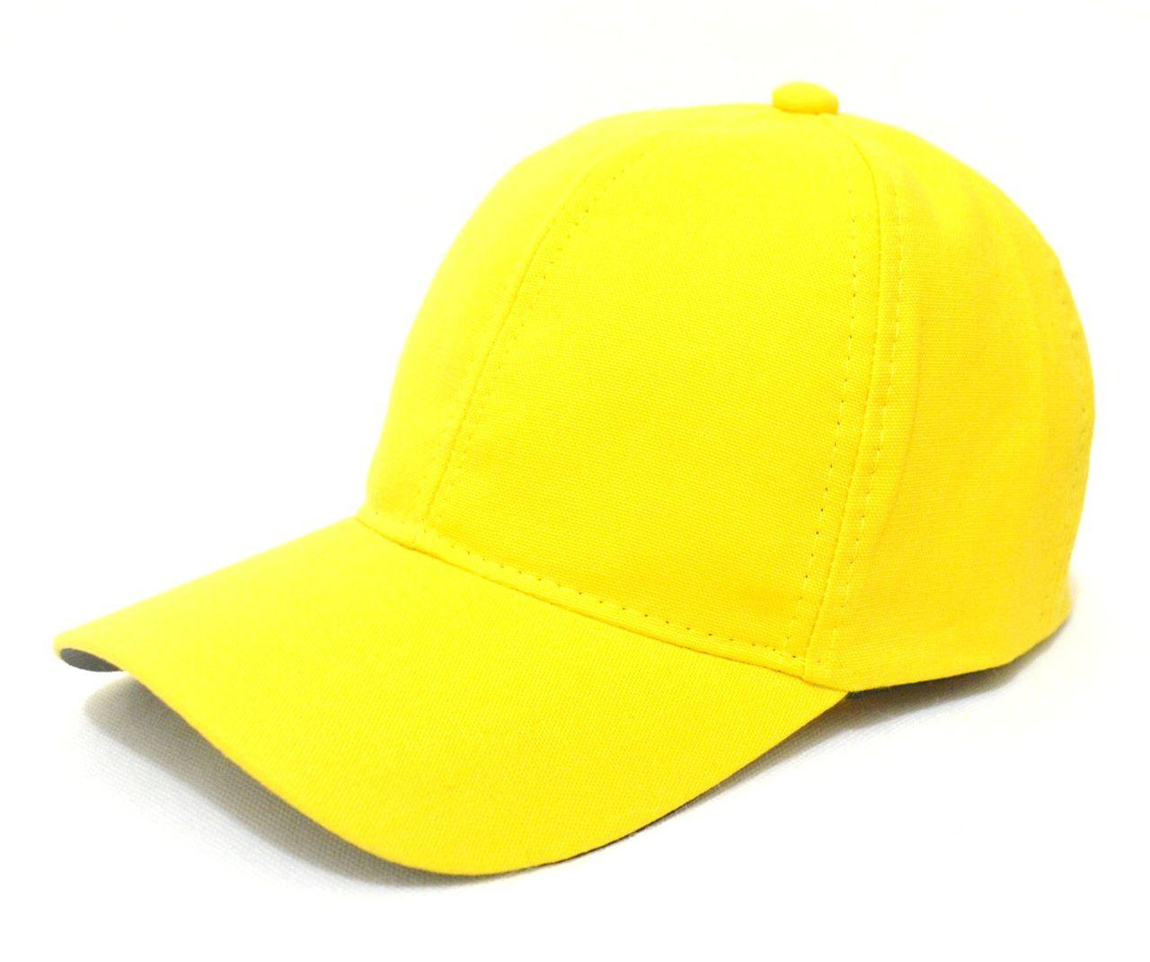 Boné Amarelo Liso Sem Estampa Unissex Aba Curva - Super Leve e com Ajuste  de Tamanho cd5c1e3e5ca