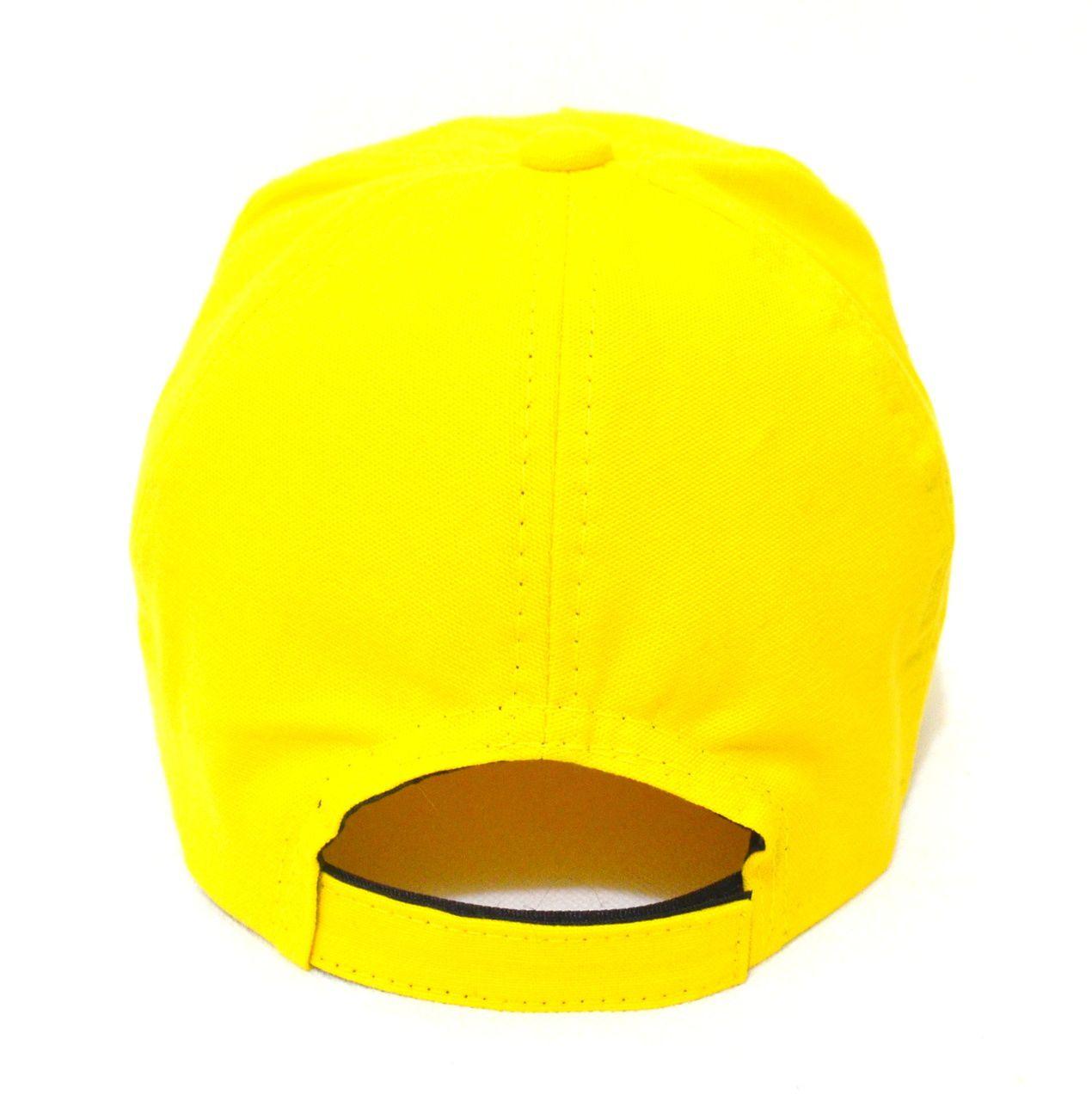 ... Boné Amarelo Liso Sem Estampa Unissex Aba Curva - Super Leve e com  Ajuste de Tamanho ... bfa5a549787