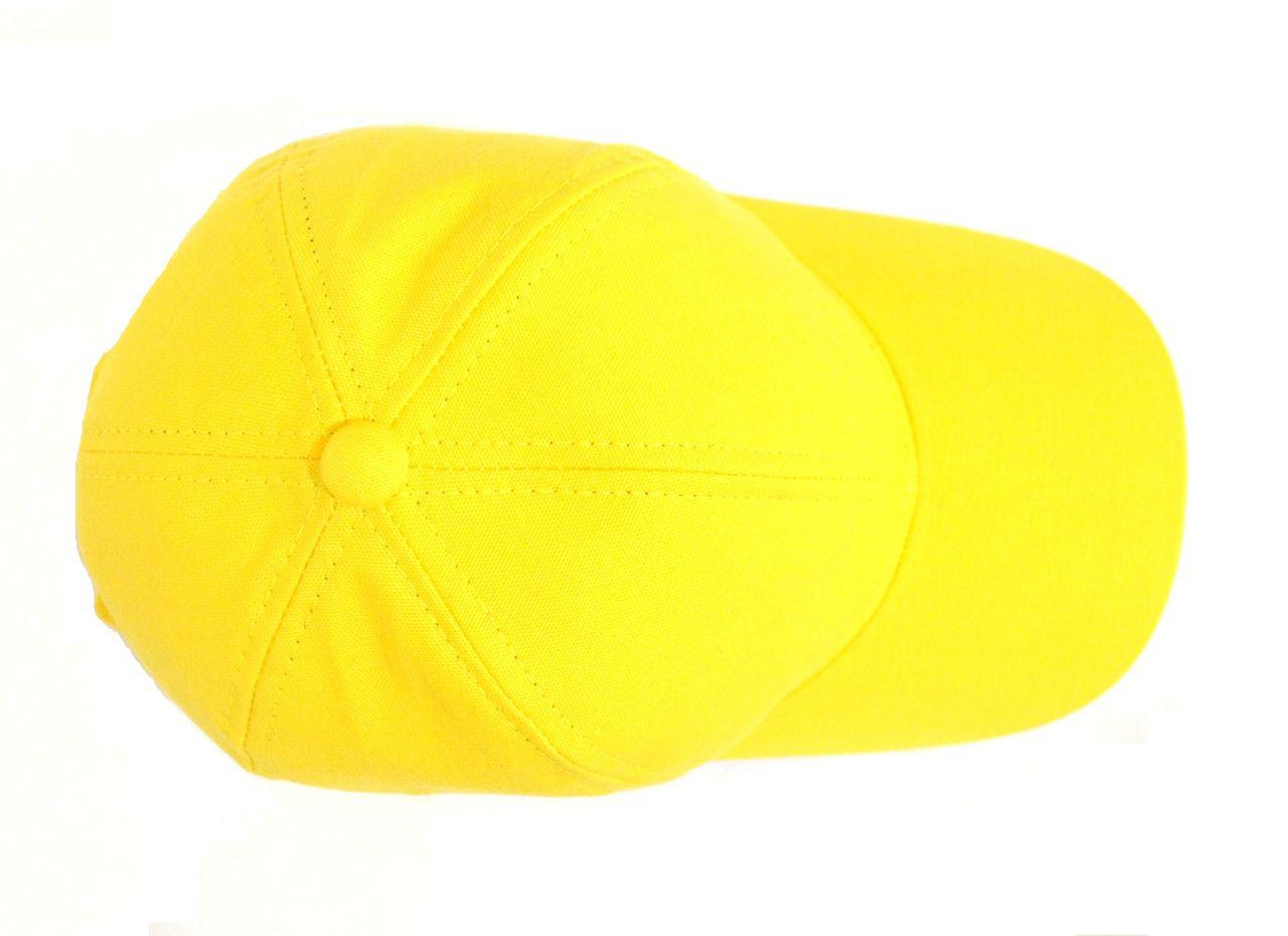 ... Boné Amarelo Liso Sem Estampa Unissex Aba Curva - Super Leve e com  Ajuste de Tamanho fe072e6237e