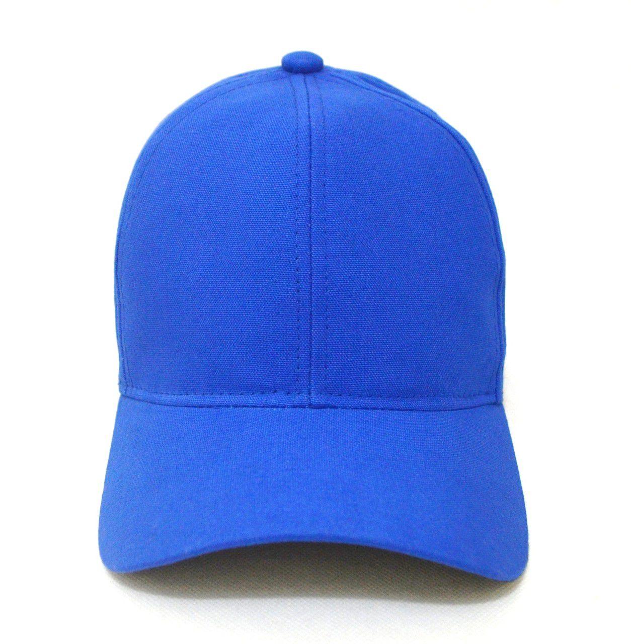 Boné Azul Liso Esporte Sem Estampa Unissex Aba Curva - Super Leve e com Ajuste de Tamanho