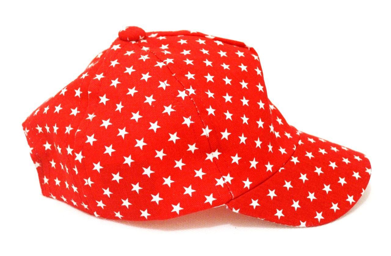 ... Boné Bebê Vermelho com Estrelinhas Unissex até 1 Ano de Idade ... 05b7b2b89e215