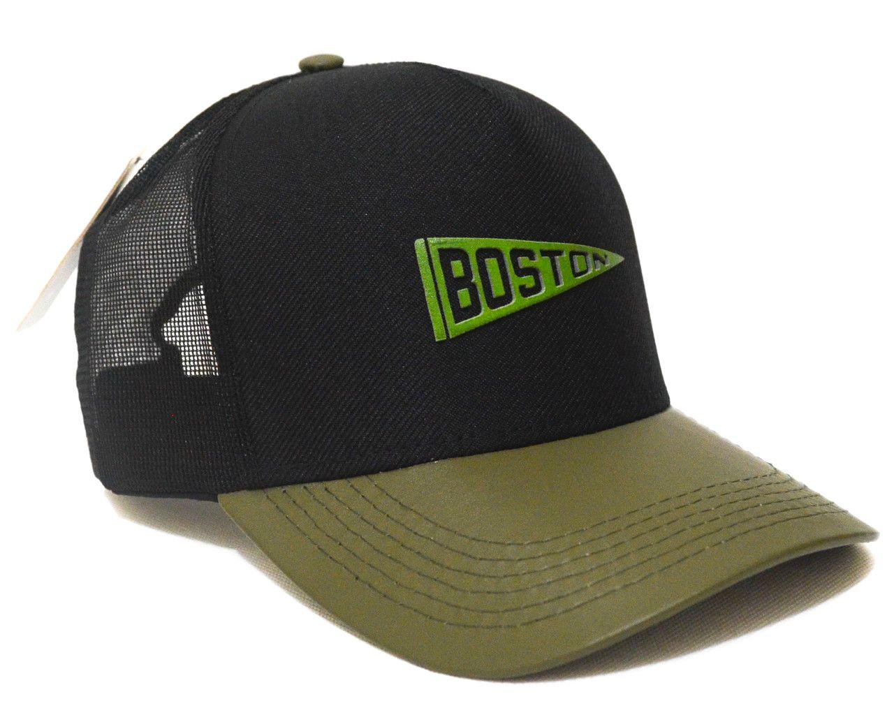 Boné Boston Aba Curva Trucker Tela Estilo Americano