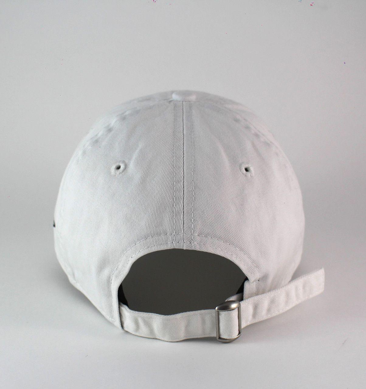 Boné Branco New Era Aba Curva de Fita e Fivela Mini Flag 920 Masculino Feminino